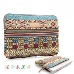 Bohemia women's laptop bag notebook sleeve for ipad 2 3 10 13.3 14 15.6(China (Mainland))