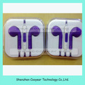 earphone color with mic and volume control for iphone 5 free shipping DHL EMS UPS