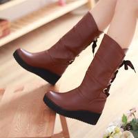 free shipping 2013 flat heel knee-high platform single boots women's shoes boots winter boots Women women's boots Sandals