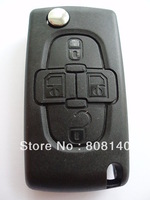 REPLACEMENT 4 BUTTON FLIP KEY FOB CASE FOR PEUGEOT 1007 807 REMOTE
