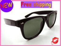 Fashion men's women's sunglasses   Black rims  50mm glass lenses  1pcs Free Shipping