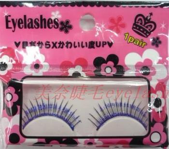 eyelash extensions False eyelashes natural nude makeup single eyelash lengthening navy blue powder human hair