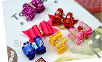 Free shipping!Mix order!Wholesale 66PCS/lot butterfly bow fabric pet hairpin,pet hair clip, dog hair pin,cat hair pin