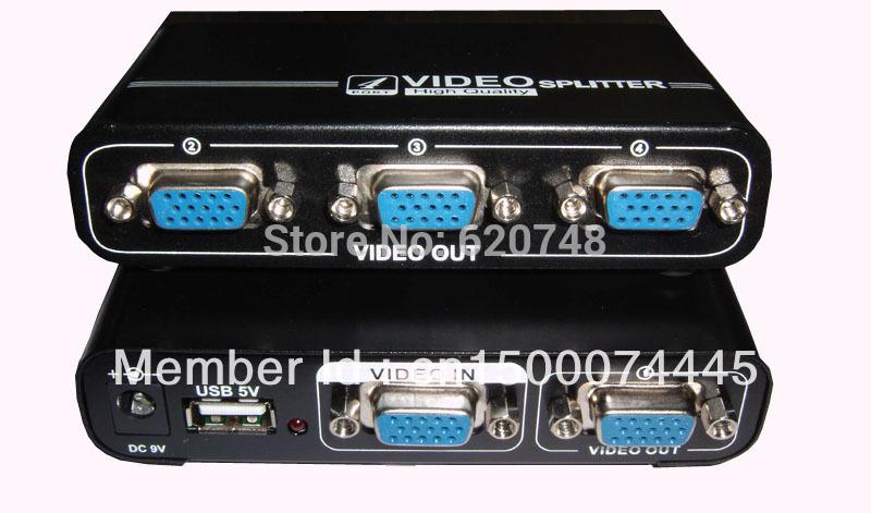 Splitter 3 Way Vga 4 Way Vga Splitter Box