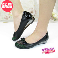Free Shipping Women's flat rhinestone comfortable casual shoes mother shoes work shoes