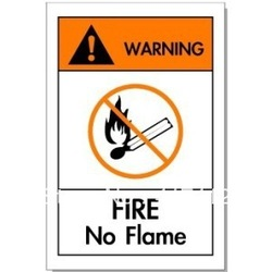 Beware of fire safety signs in English pyrotechnics warning signs at the sign(China (Mainland))