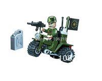 No.802 Side-car Motorcycle Enlighten Building Block Set,3D Construction Brick Toys, Educational Block toy for Children
