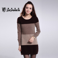 Winter medium-long women's 2012 mink sweater coffee thermal basic shirt