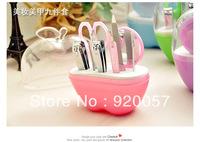 fashion nail kit 9pcs sets stainless steel manicure set Nail scissors