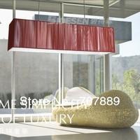 Modern Milan design rectangle brushed pendant light fashion bar lamp for Indoor lighting+free shipping PL115,also for wholesale