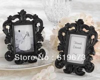 """Black Baroque"" Elegant Place Card Holder/Photo Frame For Wedding (Set of 100 PCS) and Whole Free Shipping"