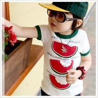 2014 Time-limited Direct Selling Freeshipping Character Fashion Summer Watermelon Clothing Baby Child Short-sleeve T-shirt 1c