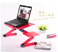 Free shipping, New Folding table with mouse rack, folding desk for laptop, portable table,2 colors, factory price