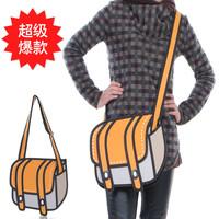 Hot-selling top cartoons bag big 3d three-dimensional shoulder bag messenger bag handbag women's m35