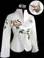 Fashion Chinese Women's embroidery jacket /coat Cheongsam Vest Dress M-3XL