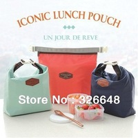 Free shipping 6colors Lunch pouch lunch cooler bag insulated picnic bag Portable outdoor heat preservation