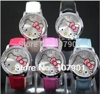 hello kitty watch kids watch lovely students watch wrist watch 5pcs/lot free shipping