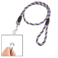 Lobster Hook Round Tri Color Twisted Rope Pet Dog Lead Leash 1.2M Long