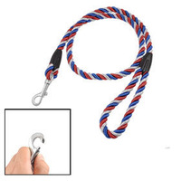 Tri Color Swivel Lobster Clasp Nylon Rope Puppy Dog Leash Lead 3.9 Ft