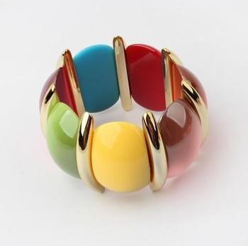 (Min order$10) !European and American Модный Цвет trend all-match Stretch Bracelet!#1081