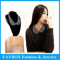 fashion crystal beaded Luxury Peter pan choker collar necklace jewelry for lady women dress