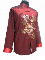 Chinese Tradition embroidery Men Dragon Kung Fu Shirt Jacket Vest M-3XL
