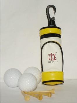 Novelty Design PU Leather Mini Golf Bag 3pcs Golf Ball and 3pcs Tee in the Mini Golf Bag Golf set gift
