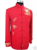 2013 Chinese Tradition Embroidered Men Dragon Kung Fu Shirt Jacket/Coat Vest M-3XL