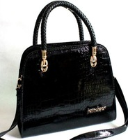 Free shipping sale promotion discount Hot Fashion Crocodile Shoulder Bag Commuter Women Tote Bag Patent Leather Shiny Handbag