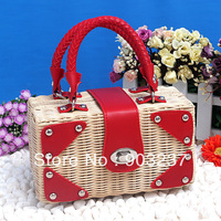 Free shipping - new straw bag handbag pastoral rattan package woven handbag