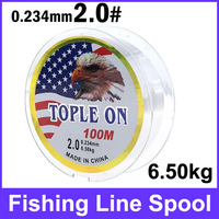 5pcs Fishing Rop2# 100m Long 0.234mm Diameter 6.50kg Abrasion Resistant Fishing Line Spool