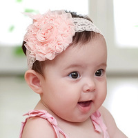 Free shipping 10pcs/lot  New Hot Sell 3Colors Baby Flower Feather Headband Hair Band Accessorie Christmas Photography
