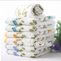 2pcs/set Free shipping 100% cotton Face towel,wedding gift towel lovers towel hand towel wash househould textile
