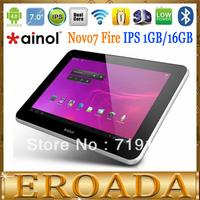"Original Ainol Novo7 fire Android 4.0.4 Tablet PC 7""IPS Dual Core 1.5GHz 1GB DDR3 16GB Dual Camera WIFI Bluetooth free shipping"