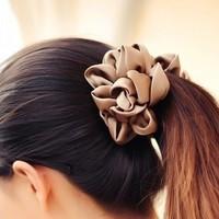 Mix Wholesale Hair accessory accessories silks satins three-dimensional flower hair Flower hairpin banana clip ponytail clip