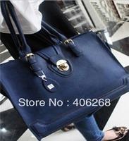 free shipping  2013 fashion  high quality pu leather ladies' handbag  with lock shoulder bag  sling bag