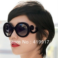 Free shipping,butterfly wings baroque ruslana korshunova fashion round glasses sunglasses women's vintage circle sunglasses