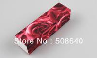 Excellent Quality 100pcs Nail Art Care Tools Product Buffer Block File 4 Ways Rose Desgin Beauty Manicure Tool Wholesale 489
