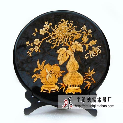 Beautiful design Pingyao natural lacquer classical wool jewelry screen fo rhome decoration or wedding gift(China (Mainland))