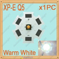 Cree XLamp XP-E 1W 3W Q5 Warm White LED Light Emitter Bulb mounted on 20mm Star PCB