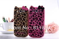 2013 New Cute Bowknot Leopard Hello Kitty TPU Gel Skin Cover Back Case for Samsung Galaxy S3 SIII i9300, Free Shipping