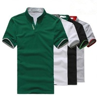 Free Shipping 2013 Summer Leisure Men's T-shirt, Fashion Short, Men's V Neck T-shirt