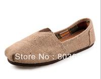 Drop Ship Flat Canvas Shoes Women Men's Unisex Hemp shoes  Classic  Plain Casual Sneaker Flax Shoes