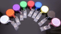ID holder Name card tag , 30PCS MIX COLOR glaze , Key Badge Reels Clip-On Retractable pull