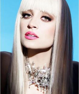 Lady gaga wig white beige long straight hair fluffy prom scroll faux fur stubbiness pear cosplay female