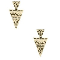 hot sales fashion vintage triangle  earings, retro European American style women jewelries