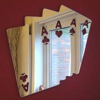 Waterproof circle round shape acrylic mirror wall sticker/Poker Cards Mirror