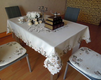 New arrival high quality embroidery table cloth cover towel