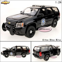 1:24 toy model CHEVROLET Tahoe police car exquisite alloy car model free air mail