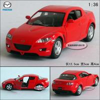 1:36 MAZDA kinsmart rx-8 red alloy car models free air mail